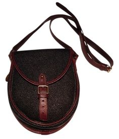 7a9a937ea1 Mulberry Black  Brown Scotchgrain Leather Cross Body Bag 79% off retail
