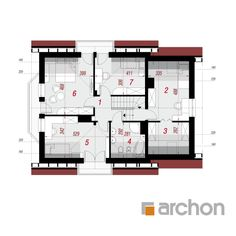 Dom w rododendronach 6 Traditional House, House Plans, Floor Plans, How To Plan, Architecture, Houses, Blueprints For Homes, Home Plans, Architecture Illustrations