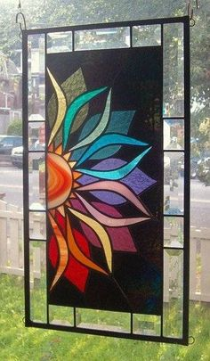 Vivid Intensity Stained Glass Window Panel