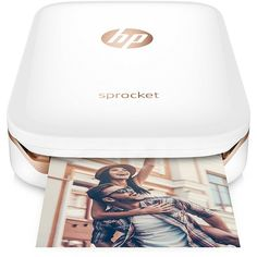 """HP Sprocket Portable Photo Printer, Print Social Media Photos on 2x3""""... ($130) ❤ liked on Polyvore featuring home, home decor, wall art, red wall art, red home decor, paper wall art, photo wall art and red home accessories"""