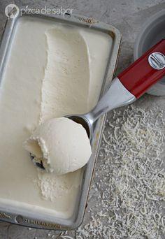 Helado de coco sin máquina www.pizcadesabor.com