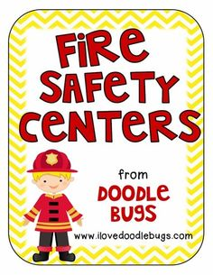 October is a the time that most people teach fire safety. I finished some fire safety centers that are really fun! Community Helpers Preschool, Preschool Lessons, Preschool Activities, Health Activities, Science Resources, Fire Safety For Kids, Fire Safety Week, Math 5, Math Literacy