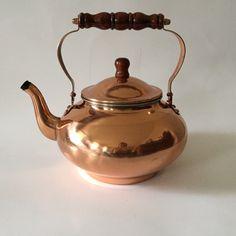 Vintage UNUSED Copper Tea Kettle Copper by thehoneysuckleshop