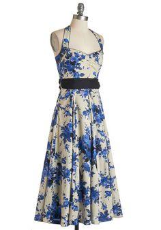 Indigo Gardens Dress | Mod Retro Vintage Dresses | ModCloth.com
