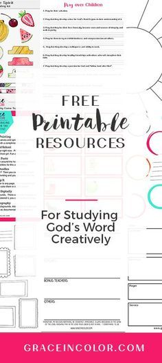 Enjoy FREE classes and printables for Bible Study Prayer and Bible Journaling. Family Bible Study, Bible Study Plans, Free Bible Study, Bible Study For Kids, Bible Study Tips, Bible Study Journal, Scripture Study, Bible Lessons, Bible Art