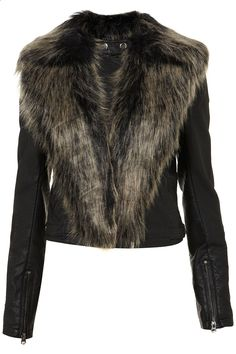 Fur Shawl Biker Jacket $130.00
