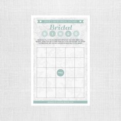 Lace Bridal Shower Bingo - Personalized and Printable - Bridal Bingo Game - Bridal Shower Games by shopMKCreative on Etsy (null)
