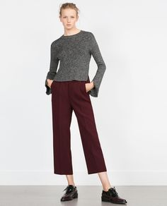 £17.99 size S ZARA - WOMAN - SWEATER WITH OPENINGS