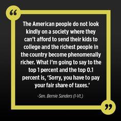 Senator Bernie Sanders for president!