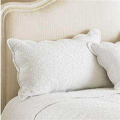 Paoletti Toulon Pillow Sham, White