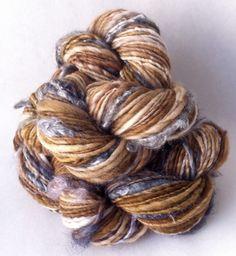 Blue Bird - handspun natural novelty yarn
