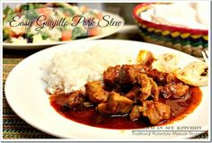 Easy Guajillo-Pork Stew/Asado de Puerco Sencillo by Mexico in my Kitchen - So authentic and delicious!!!