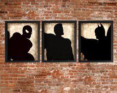 Super juego de 3 - foto grabados - tipo Poster arte textura Beige Negro Vintage…