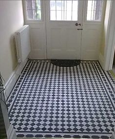 The original tile floor found in a 1930's English bungalow!