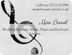 Wedding music business card