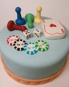 Super cute birthday cake for a board game themed party Wedding