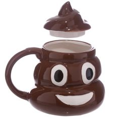 Ceramic Poop with Lid Emotive Mug  Made from ceramics  Dimensions: ​Height with Lid 13cm Height 8.5cm Width 14.5cm Depth 11cm   Delivery prices available on Checkout