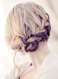 How to: Side French Braid low Updo Hair Tutorial