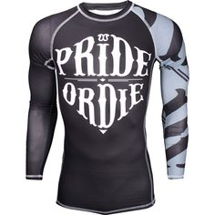 Pride or Die Reckless Rashguard - Combining finish, aggressiveness and temper, this product is made for those who leave compromises outside the fighting zone! Polyester/Lycra Athletic cut Allover sublimation DryControlSystem (DCS) mesh yokes Flat-Lock needle work (anti-tearing) Itch-proof inside tag