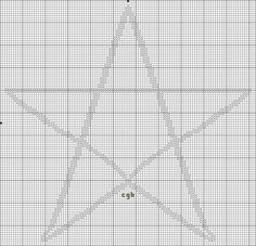 Free Ancient Symbols Cross Stitch Charts: Free Five Point Star Cross Stitch Pattern