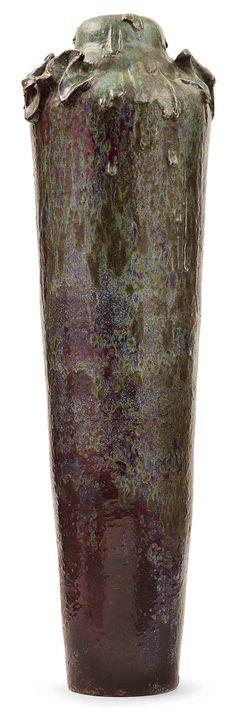 ** Pierre-Adrien Dalpayrat (1844-1910), Glazed Stoneware Vase.