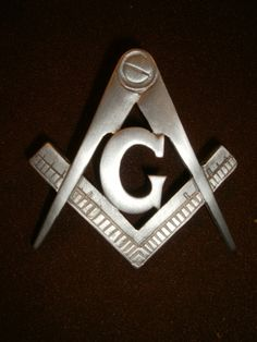 "freemasons,  compass and square,""G"" masonic symbol,vest badge"