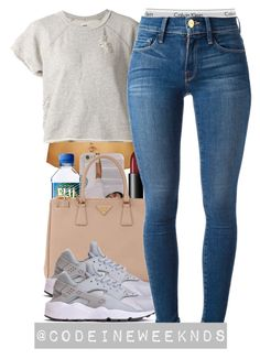 """7:31:15"" by codeineweeknds ❤ liked on Polyvore featuring NSF, NARS Cosmetics, Prada, Calvin Klein Underwear and Frame Denim"