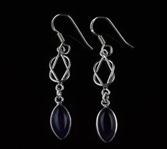925 Sterling Silver Natural Amethyst Gemstone Handmade Earrings Jewelry #Handmade #DropDangle #Party