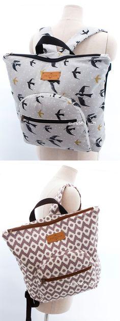 Brendan Tote Style Backpack PDF Pattern -  ithinksew.com