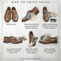 Now learn how to shine your dress shoes....