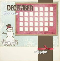 Cute July Calendar Ctmh  Home Dcor    Scrapbooking
