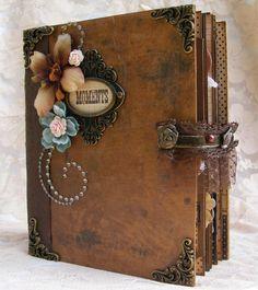 ELITE4U Toni Vintage Style Premade Scrapbook Album Prima Flower Paper Piecing | eBay