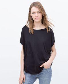 ZARA - WOMAN - ROUND NECK T-SHIRT