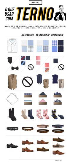 Dicas de estilo masculino para diversas ocasiões: o que usar com terno no trabalho, no casamento e no encontro.