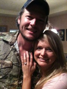 Shortly after Blake popped the question, Miranda tweeted this photo.