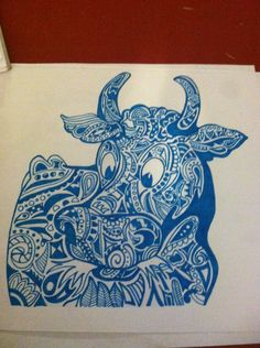 Zentangle Animal by ZentangledandStuff on Etsy, $15.00