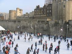 The Most Amazing Place to Break A Leg... Tower of London Ice Rink. Located in the dry moat, the Tower of London ice rink (aka Ice at the Tower) offers a grand historical setting for seasonal skating sessions, along with views of London's ancient fortress. Sat Nov 16 - Sun Jan 5 2014. More information here: http://www.timeout.com/london/things-to-do/ice-skating-in-london