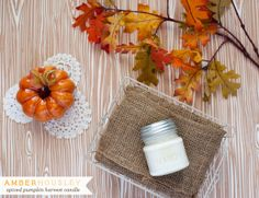 Amber Housley Spiced Pumpkin Harvest Candle