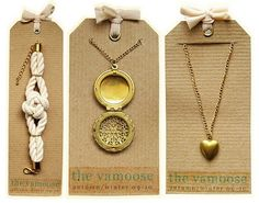 the vamoose jewelry Cool Jewelry display cards
