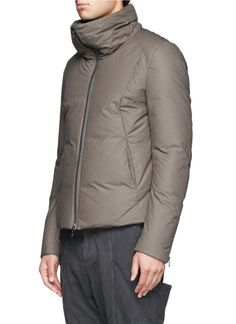 ATTACHMENT - High collar down jacket | Neutral and Brown Casual Jackets Jackets | Menswear | Lane Crawford