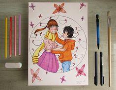 Shizuku And Haru, Working On Myself, New Work, Behance, Gallery, Check, Anime, Art, Art Background