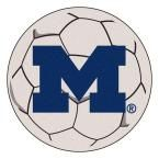 Ncaa University of Michigan Cream (Ivory) 2 ft. 3 in. x 2 ft. 3 in. Round Accent Rug