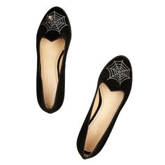 CHARLOTTE OLYMPIA SPIDER WEB SLIPPERS, $795; net-a-porter.com #InStyle