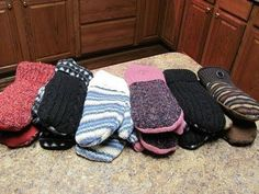 Make mittens from old sweaters - Fast and Easy! - YouTube (Separate thumb piece and liner)
