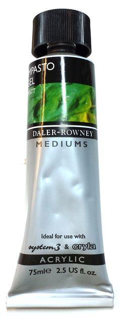 Impastogeeliä voidaan käyttää impastotekniikalla maalattaessa. Impastogeeli lisää akryylivärin paksuutta ja tekee väristä riittoisamman.