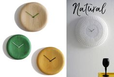 Unique Wall Decor Ideas: Clocks. If you want a nice simple and sleek wall piece to decorate your home, why not pick a Pill clock or Gomitolo big wall clock.