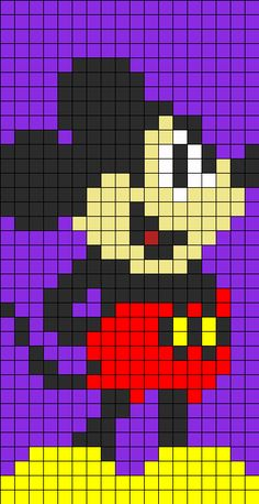 now i get it. . . .how to use grid patterns Mickey Mouse granny square pattern