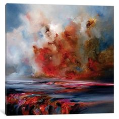 "Latitude Run Reflect Heat Original Painting on Wrapped Canvas Size: 12"" H x 12"" W x 0.75"" D"