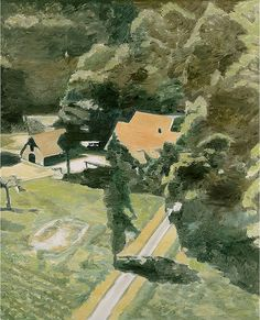 Luc Tuymans (Belgian, b. 1958), Backyard, 2002. Oil on canvas, 543/4 x 447/8 in. The Museum of Contemporary Art, Los Angeles.