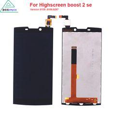 원래 품질 Highscreen 등 부스트 2 se 9169 9108 9267 LCD 디스플레이 터치 스크린 이노스 D10 블랙 컬러 휴대 전화 Lcd는